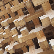 EXPO 2015: Wandstruktur des Japanischen Pavillons