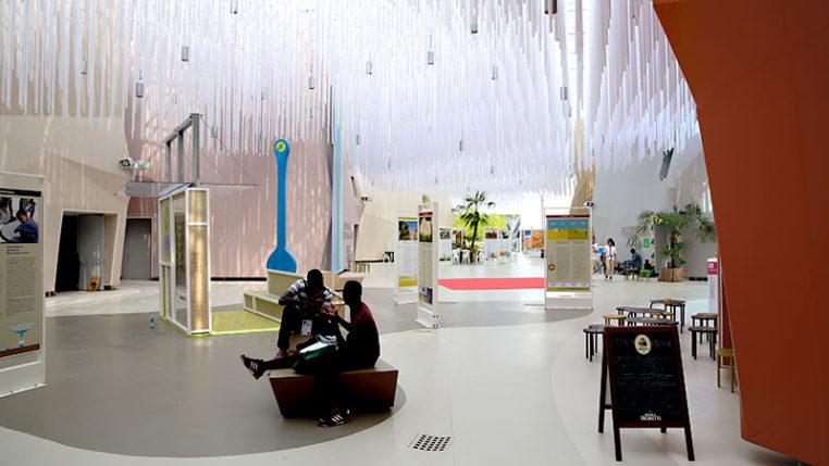 EXPO 2015: Clusters - Trockengebiete - Angenehmes Klima im Bereich zwischen den Ländervertretungen / © Stefan Dömelt/comrhein
