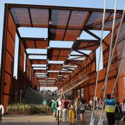 Pavillon mit einer Ausstellungsfläche über 2.000 qm. EXPO Milano 2015 / Brasilien-Pavillon. Foto: © Stefan Dömelt/comrhein
