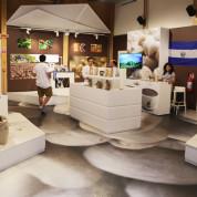 Cluster-Beteiligung im Clusterpavillon Kaffee. EXPO Milano 2015 / El Salvador. Foto: © Stefan Dömelt/comrhein