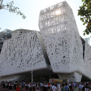 Der Architektur-Award prämiert die Außengestaltung der Pavillons. Italien-Pavillon auf der EXPO Milano 2015. Foto: © Stefan Dömelt/comrhein