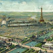 Blick auf die Weltausstellung in Paris 1889 mit dem dafür erbauten Eiffelturm - Bild: Gemeinfrei über Wikimedia Commons