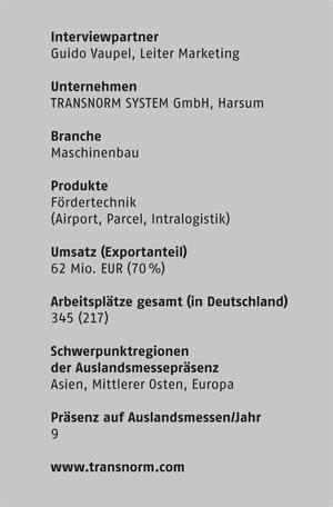 TRANSNORM SYSTEM GmbH, Harsum