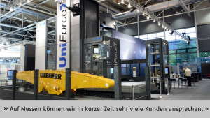 """""""Auf Messen können wir in kurzer Zeit und mit verhältnismäßig wenig Aufwand sehr viele Kunden ansprechen"""", betont Bernhard Müller, SHW Werkzeugmaschinen GmbH, Aalen."""