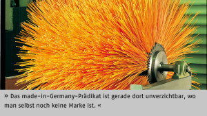 """""""Unsere Erfahrung zeigt, dass das made-in-Germany-Prädikat gerade dort unverzichtbar ist, wo man selbst noch keine Marke ist"""", betont Tanja Kanzy, Marketingleiterin bei Kullen-Koti GmbH, Reutlingen."""