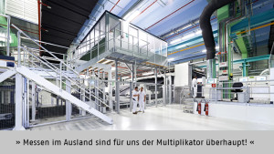"""""""Messen im Ausland sind für uns der Multiplikator überhaupt!"""", meint Dieter Schätz, Verkaufsleiter Fernost, Sandler AG, Schwarzenbach/Saale"""