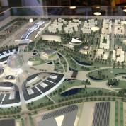 Modell des Expo-Geländes im Kasachischen Pavillon auf der EXPO in Mailand. Foto: Stefan Dömelt/comrhein