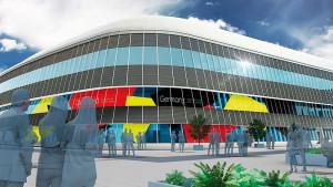 EXPO 2017: Die mehrstöckige Fassade des Deutschen Pavillons ist weithin sichtbar / © insglück, gtp2, mac