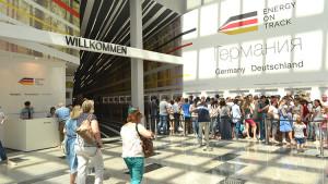 EXPO 2017 – Schon in den ersten Tagen zeigt sich großes Interesse / © Deutscher Pavillon/HMC