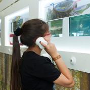 EXPO 2017 – Multimediale Informationen in mehreren Sprachen in der Passage / © Deutscher Pavillon/HMC