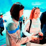 "EXPO 2017 – Wenn man hier drückt, dann ""passiert"" etwas auf dem Monitor / © Deutscher Pavillon/HMC"