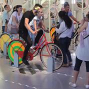 EXPO 2017: Österreich – Energie mit Pedalen erzeugen. Foto: AUMA