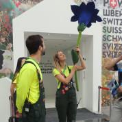 EXPO 2017: Schweizer Pavillon – Alle Besucher folgen dem Enzian. Foto: AUMA