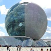 EXPO 2017: Der Pavillon des Gastgebers in Kugelform. Foto: Anja Hiss
