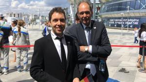 Deutscher Nationentag auf der EXPO: Christian Papert (li) und Norman Fuchs (re)