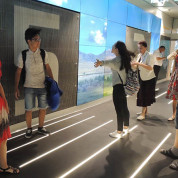 EXPO 2017: Windstärken ausprobieren im Kasachstan-Pavillon. Foto: AUMA