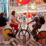 EXPO 2017: Österreich – Energie mit Pedalen erzeugen. Foto: Christian Papert