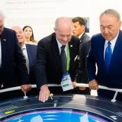 EXPO 2017: Bundespräsident Frank-Walter Steinmeier und der Präsident von Kasachstan im Deutschen Pavillon. Foto: Deutscher Pavillon / HMC