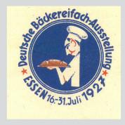 Deutsche Bäckereifach-Ausstellung, Essen 1927