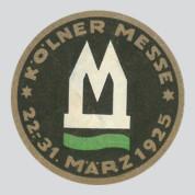 Kölner Messe 1925