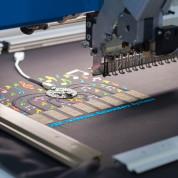 Textilverarbeitende Maschinen, Smart Textiles und Projekte der Textilforschung. Foto: Carlos Maldonado/Kamera Studio