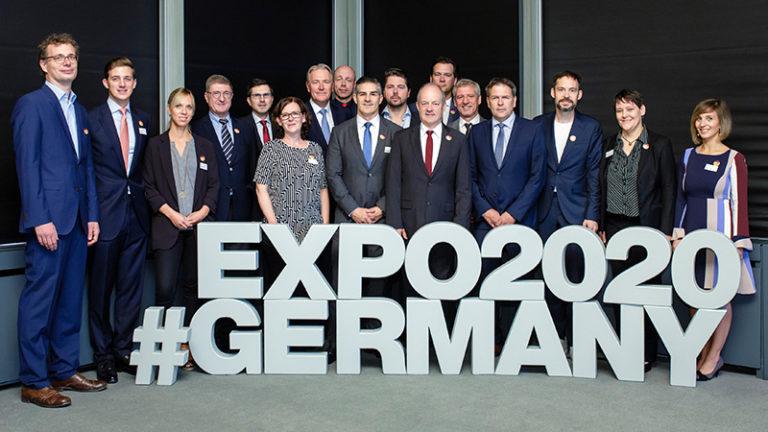Das Team für den Deutschen Pavillon von Bundeswirtschaftsministerium, Koelnmesse, ARGE Deutscher Pavillon EXPO 2020 und LAVA Architekten