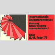 Internationale Eisenwarenmesse, Köln 1977