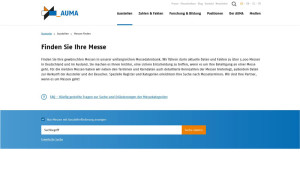 Finden Sie Ihre Messe in der AUMA-Messedatenbank.