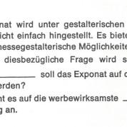 """Antwort: """"Wo"""" (soll das Exponat);""""Örtliche"""" (Zuordnung)"""