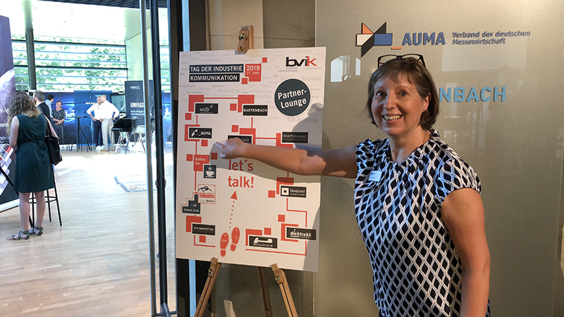 Der AUMA bot in der Partner-Lounge Informationen zu Messen © AUMA